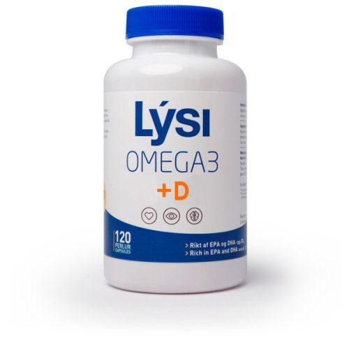 Lysi Omega-3 + D vitamin halolajkapszula