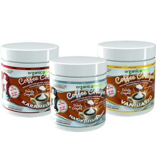 Coffee Collagen – Kávékollagén, 10 000 mg kollagén + vitaminok, Organic Force