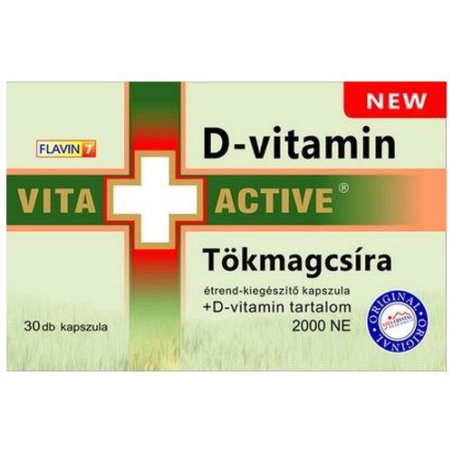Vita+Active Tökmag csíra + D-vitamin kapszula 30db