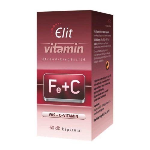 E-lit vitamin - Vas+C-vitamin 60db kapsz.