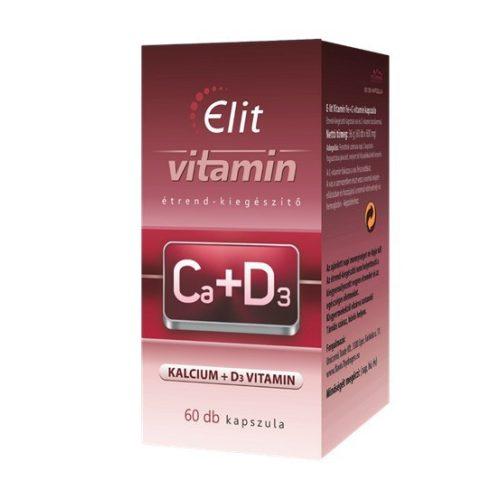 E-lit vitamin - Ca+D3-vitamin 60db kapsz.