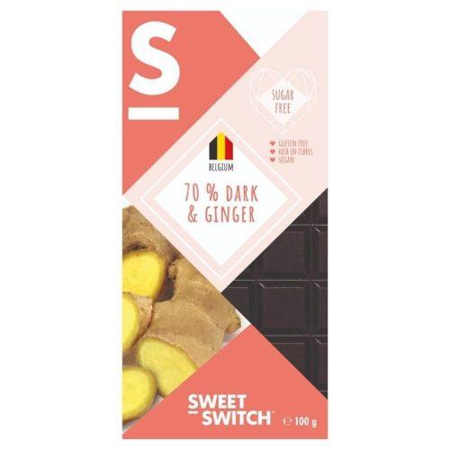 Sweet Switch étcsokoládé 70% gyömbéres 100 g