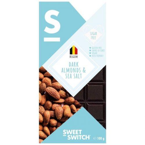 Sweet Switch étcsokoládé mandulás-sós 100 g