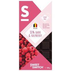 Sweet Switch étcsokoládé 88% málnás 100 g