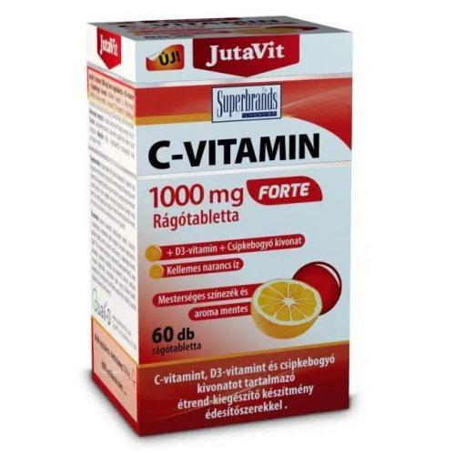 JutaVit C-vitamin Forte + D3-vitamin narancs ízű rágótabletta – 60db