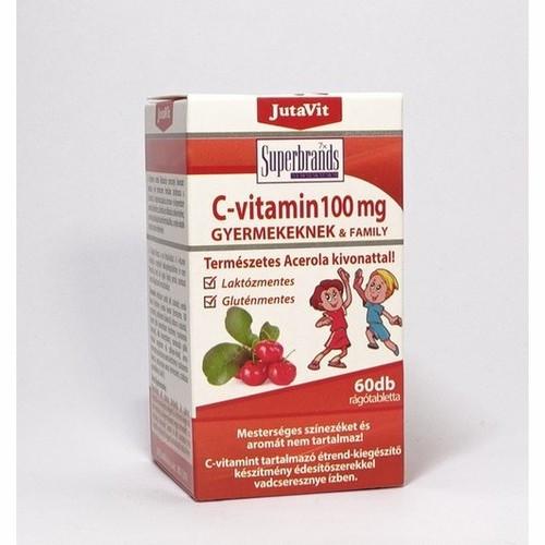 JutaVit C-vitamin 100mg Természetes Acerola kivonattal 60db